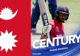एकदिवसीय खेलमा कप्तान पारस खड्काले शतक प्रहार गर्दै ११५ रनमा आउट