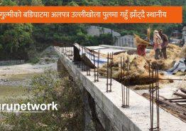 गुल्मीमा करोडौका पुल अलपत्र पुलमा गहुँ झाँट्दै स्थानीय