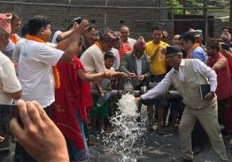 रिडि वासिले मुक्ती पाए पिउने पानीको समस्या बाट, मन्त्री चौधरी द्वारा डिप बोरिङ उदघाटन।