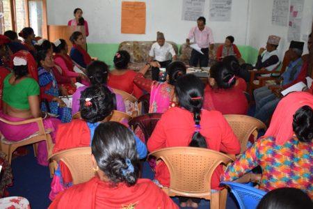 अग्लुङ्गका महिलाहरुलाई शसक्तिकर र सीप विकास तालिम प्रदान