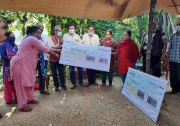 रुरुधार्मिक सेवा सन्चार प्राली द्वारा अर्गलिका मृगौला पिडित परिवार लाई सहयोग हस्तान्तरण
